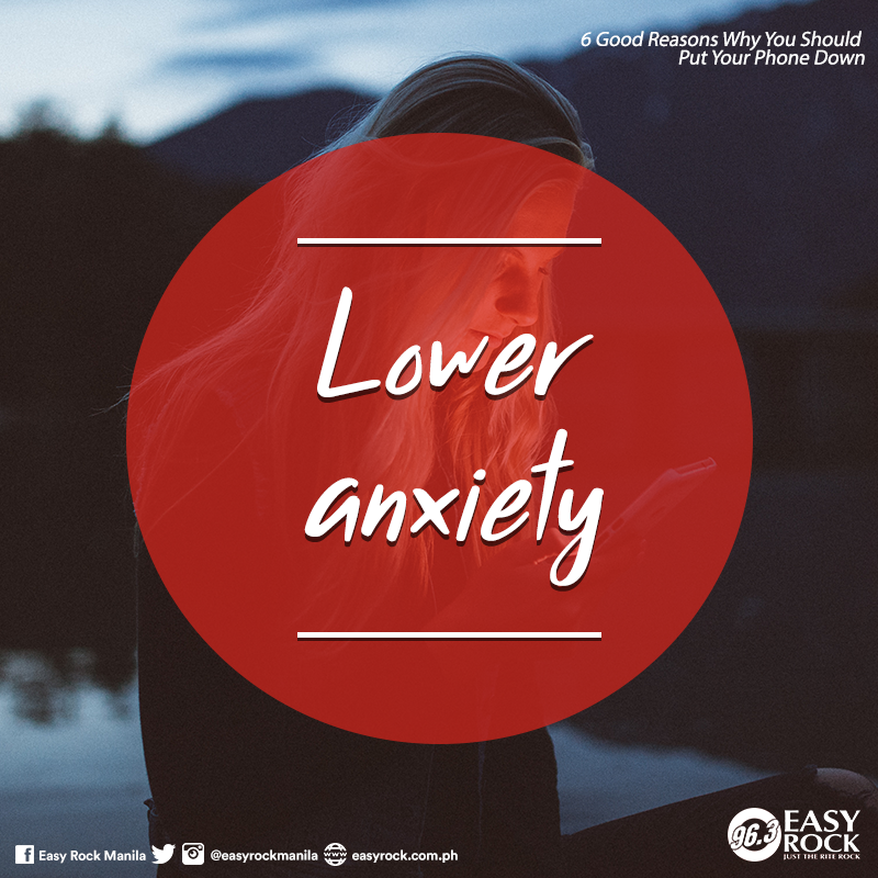 Lower anxiety