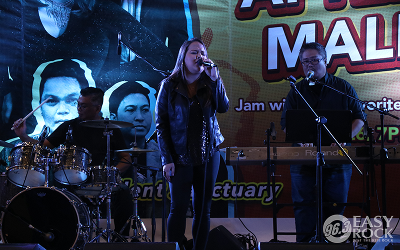 Ava of Freestyle at the Easy Rock After-work Mall Tour at Trinoma